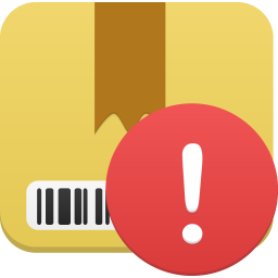 Package warning icon