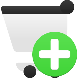 Shopping cart add icon
