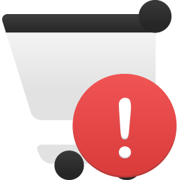 Shopping cart alert icon