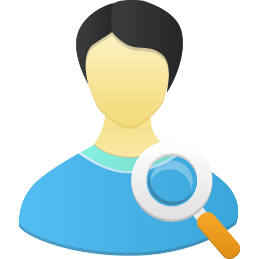 Male-user-search icon
