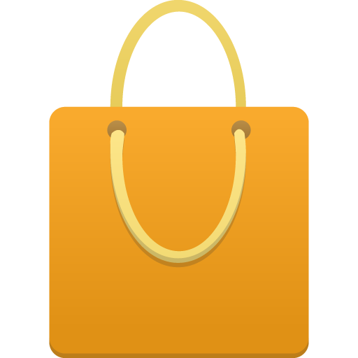 Shopping bag orange Icon | Flatastic 4 Iconset | Custom Icon Design