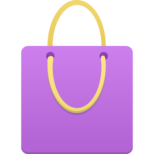 Shopping-bag-purple icon