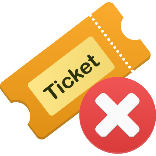 Ticket-remove icon