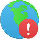 Globe-warning icon