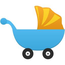 A baby cot icon