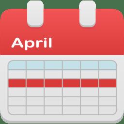 Calendar selection week icon