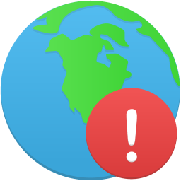Globe warning icon