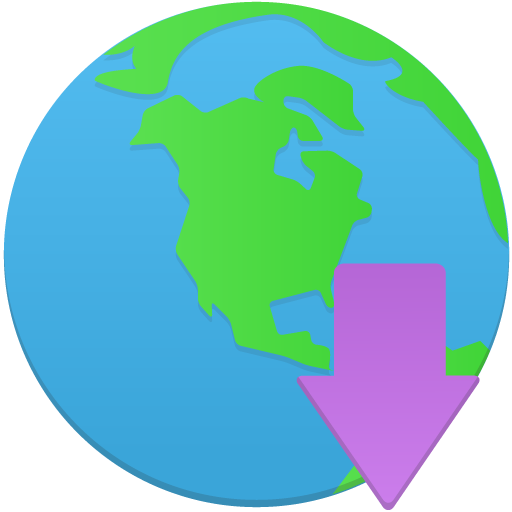 Globe-download icon