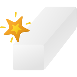 Magic eraser tool icon