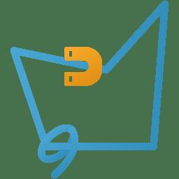 Magnetic lasso tool icon