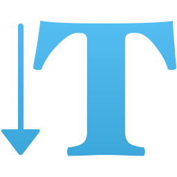 Vertical type tool icon