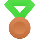 Bronze-metal-green icon