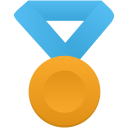 Gold metal blue icon