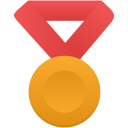 Gold metal red icon