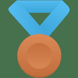 Bronze metal blue icon