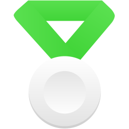 Silver metal green icon