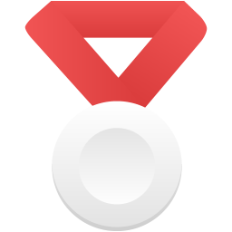 Silver metal red icon