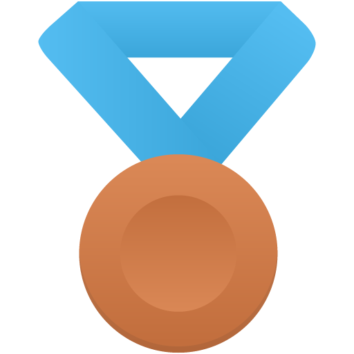 Bronze-metal-blue icon