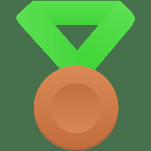 Bronze-metal-green icon