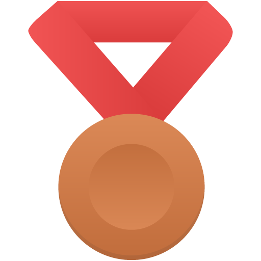 Bronze-metal-red icon