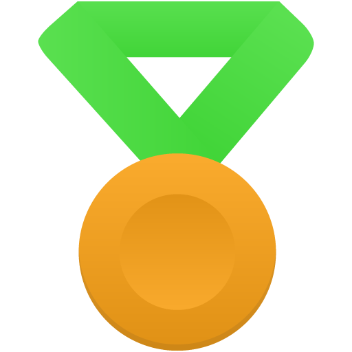 Gold-metal-green icon