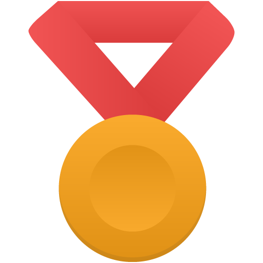 Gold-metal-red icon