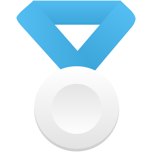 Silver-metal-blue icon
