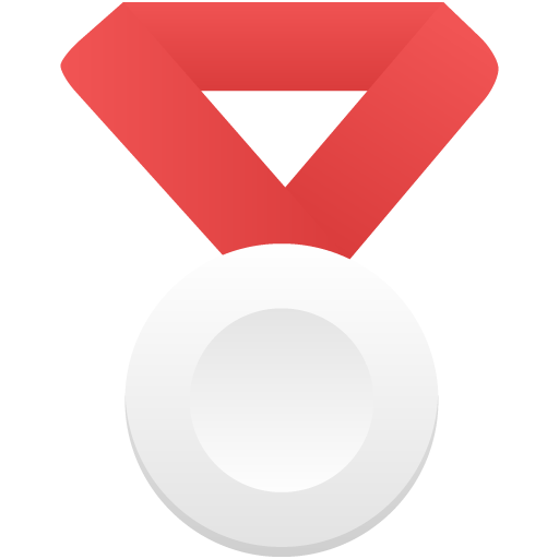 Silver-metal-red icon