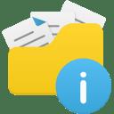 Open folder info icon