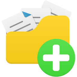 Open folder add icon