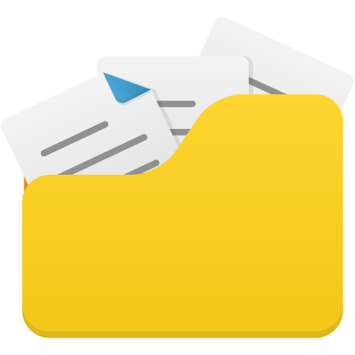 Open-folder-full icon