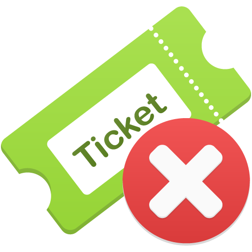 Remove-ticket icon