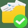 Open-folder-accept icon