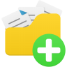 Open-folder-add icon
