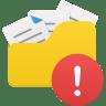 Open-folder-warning icon