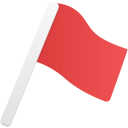 Flag-red icon