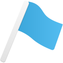 Flag1 blue icon