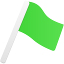 Flag1 green icon