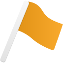 Flag1 orange icon