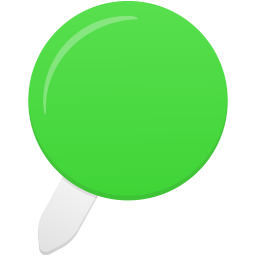 Pin green icon