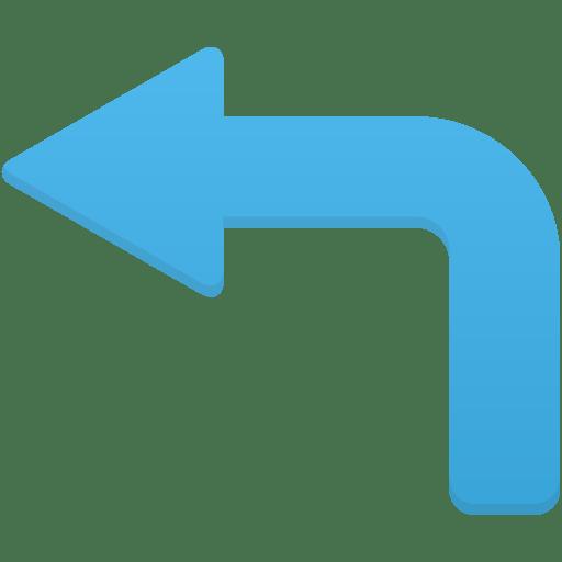 Arrow-turn-left icon