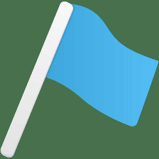 Flag1-blue icon