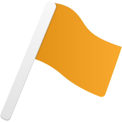 Flag1-orange icon