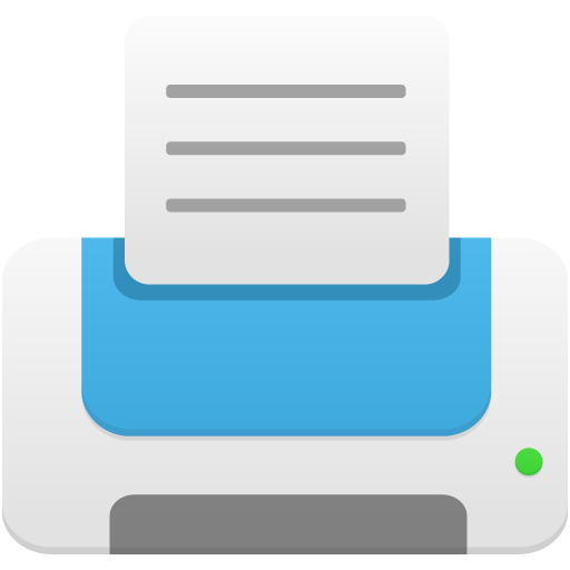 printer blue icon flatastic 9 iconset custom icon design