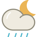 Lightshowers night icon