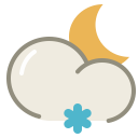 Lightsnow night icon