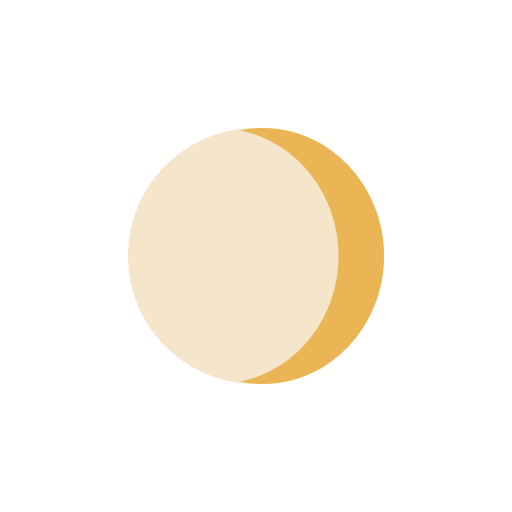 Moon Waxing Crescent icon