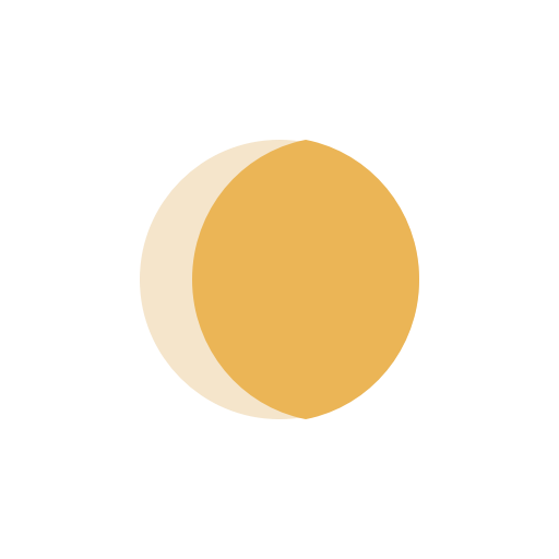 Moon waxing Gibbous icon