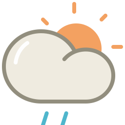 Drizzle day icon