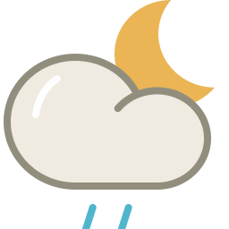 Drizzle night icon